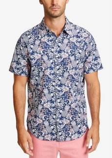 Nautica Men's Big and Tall Classic-Fit Stretch Tropical-Print Shirt