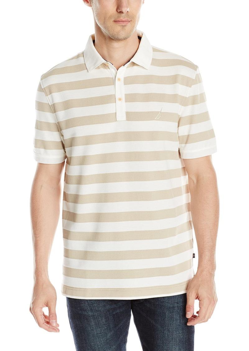 Nautica Men's Classic Fit Striped Polo Shirt  Medium