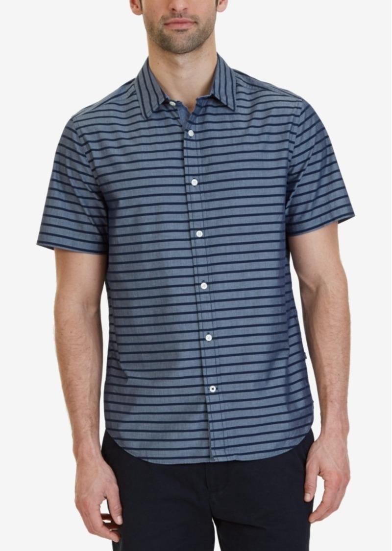 Nautica Nautica Mens Classic Fit Striped Short Sleeve Shirt