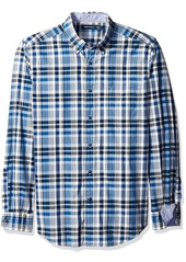 Nautica Men's Classic Fit True Plaid Long Sleeve Shirt  M