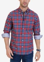 Nautica Men's Classic-Fit Wrinkle-Resistant Stretch Plaid Shirt