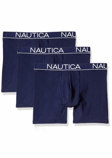 Nautica Men's Classic Underwear Cotton Stretch Boxer Brief - Multi Pack  M