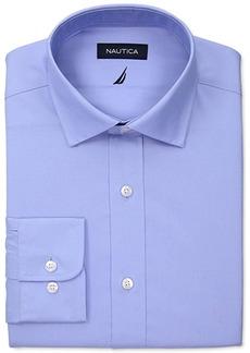 Nautica Men's Classic/Regular-Fit Comfort Stretch White Solid Dress Shirt