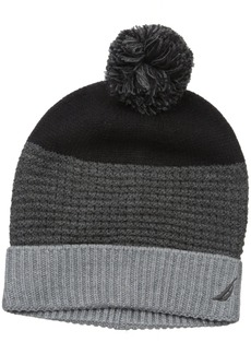 Nautica Men's Color Block Texture Cuff Hat