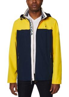 Nautica Men's Colorblock Stretch Hooded Jacket