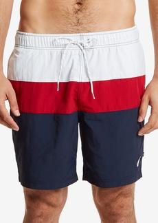 "Nautica Men's 9"" Colorblocked Drawstring Swim Shorts"