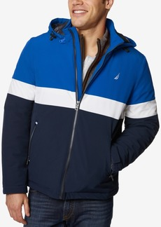 Nautica Men's Colorblocked Hooded Coat
