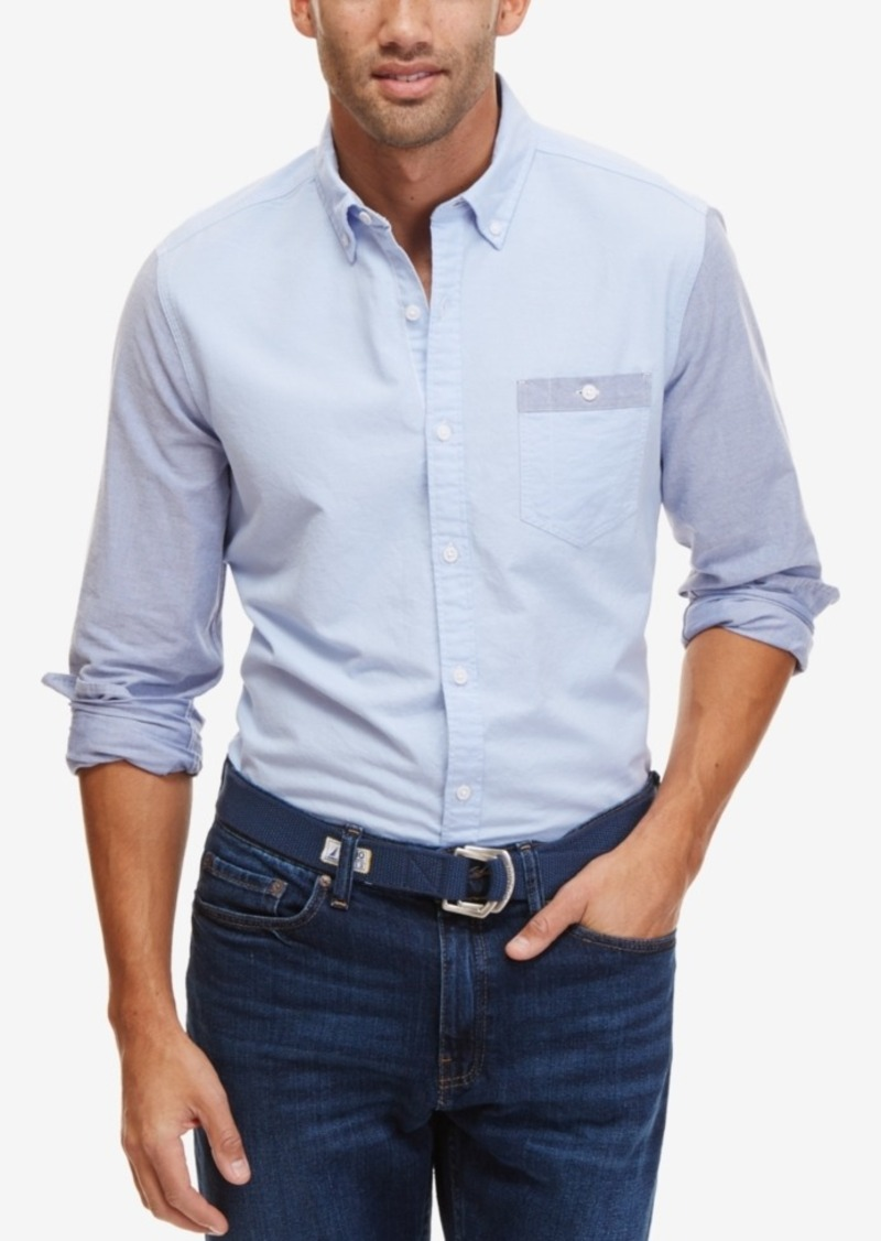 Nautica Men's Colorblocked Slim Fit Oxford Shirt