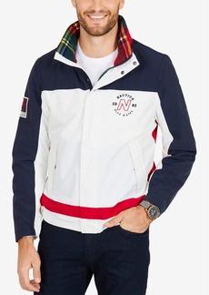 Nautica Men's Colorblocked Snap-Front Jacket