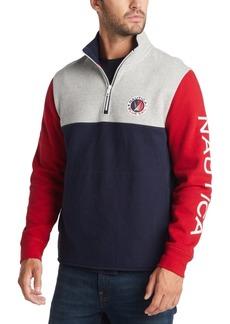 Nautica Men's Half-Zip Colorblocked Sweatshirt, Created for Macy's
