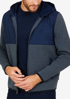 Nautica Men's Colorblocked Zip-Front Hoodie
