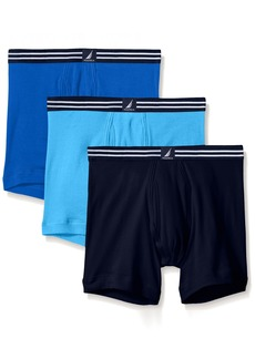 Nautica Men's 3-Pack Cotton Boxer Brief  MD