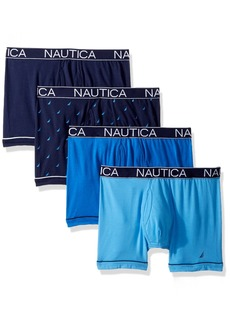 Nautica Men's Comfort Cotton Underwear Boxer Brief Multi Pack  S