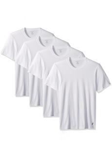 Nautica Men's Cotton Crew Neck T-Shirt-Multi Pack 4 Pure White XL