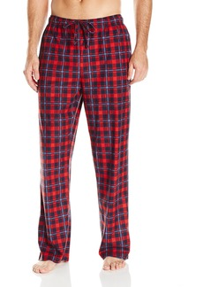 Nautica Men's Cozy Fleece Red Plaid Pant