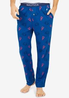 Nautica Men's Crab & Lobster Print Cotton Pajama Pants