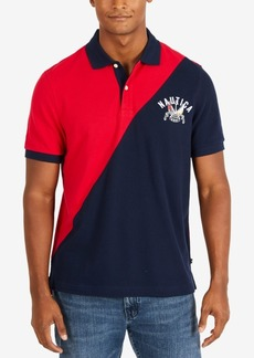 Nautica Men's Diagonal Colorblock Classic Fit Polo