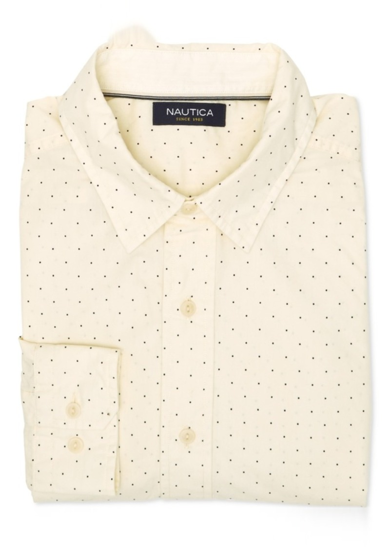 Nautica Men's Dot-Print Long-Sleeve Shirt