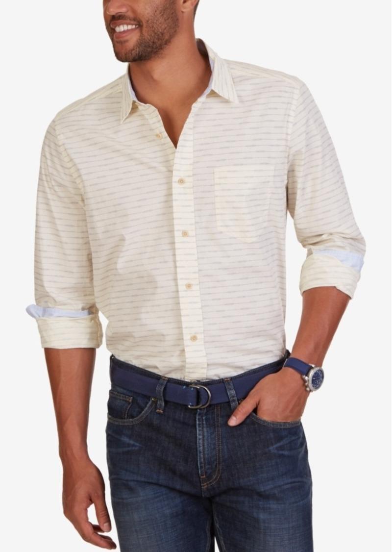 Nautica Men's Dot-Stripe Long-Sleeve Shirt
