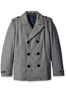 Nautica Men's Double Breasted Wool Blend Peacoat  XXL