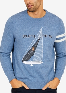 Nautica Men's Embroidered Applique Sailboat Sweater