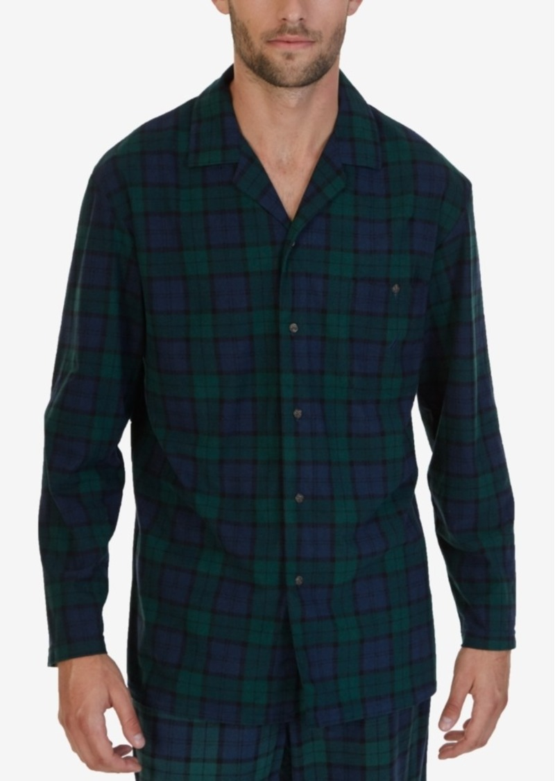 Nautica Nautica Men s Emerald Plaid Lightweight Sueded Fleece Sleep ... 820f243c7