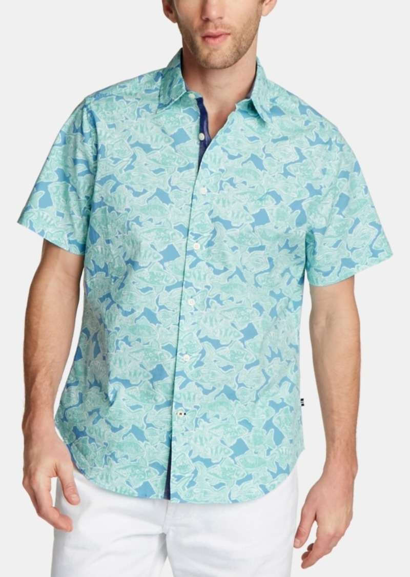 Nautica Men's Fish-Print Shirt