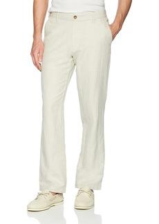 Nautica Men's Flat Front Linen Pant  38W 32L