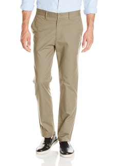 Nautica Men's Flat Front Slim Fit Twill Chino Marina Stretch Pant Beach Sand