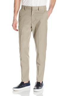 Nautica Men's Flat Front Slim Fit Twill Chino Pant Beach Sand