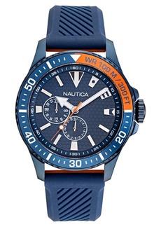 Nautica Men's Freeboard Multi Colored Silicone Strap Watch 44mm