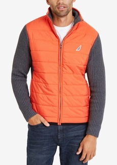 Nautica Men's Full-Zip Two-Tone Sweater