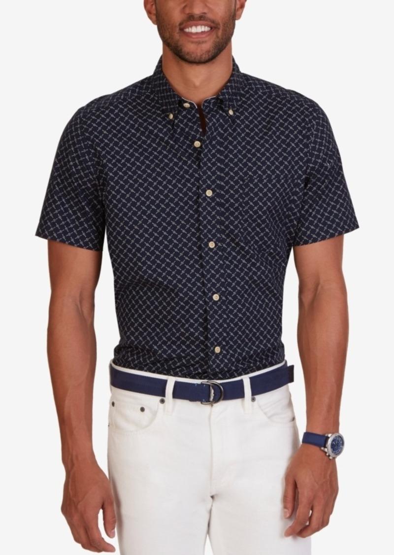 Nautica Men's Geo-Print Short-Sleeve Shirt