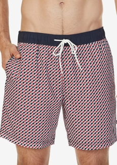 "Nautica Men's Geo-Print 6 1/2"" Swim Trunks"