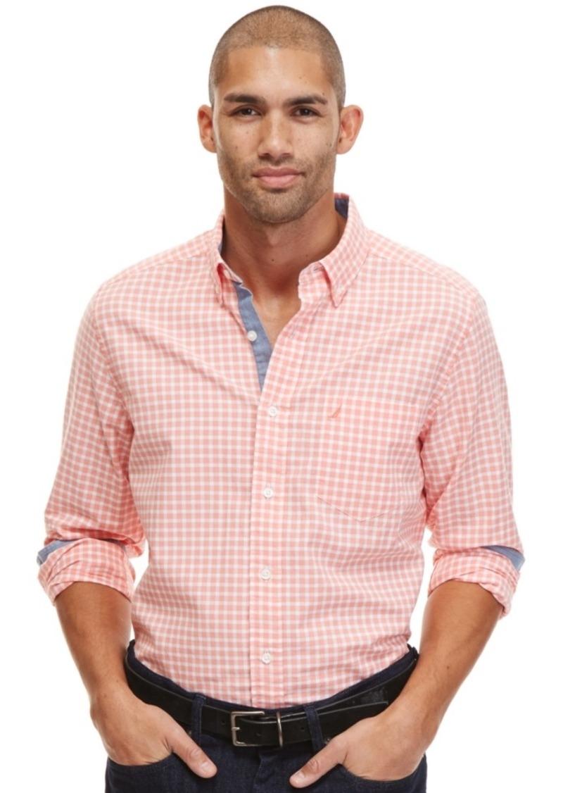 Nautica Men's Gingham Oxford Shirt