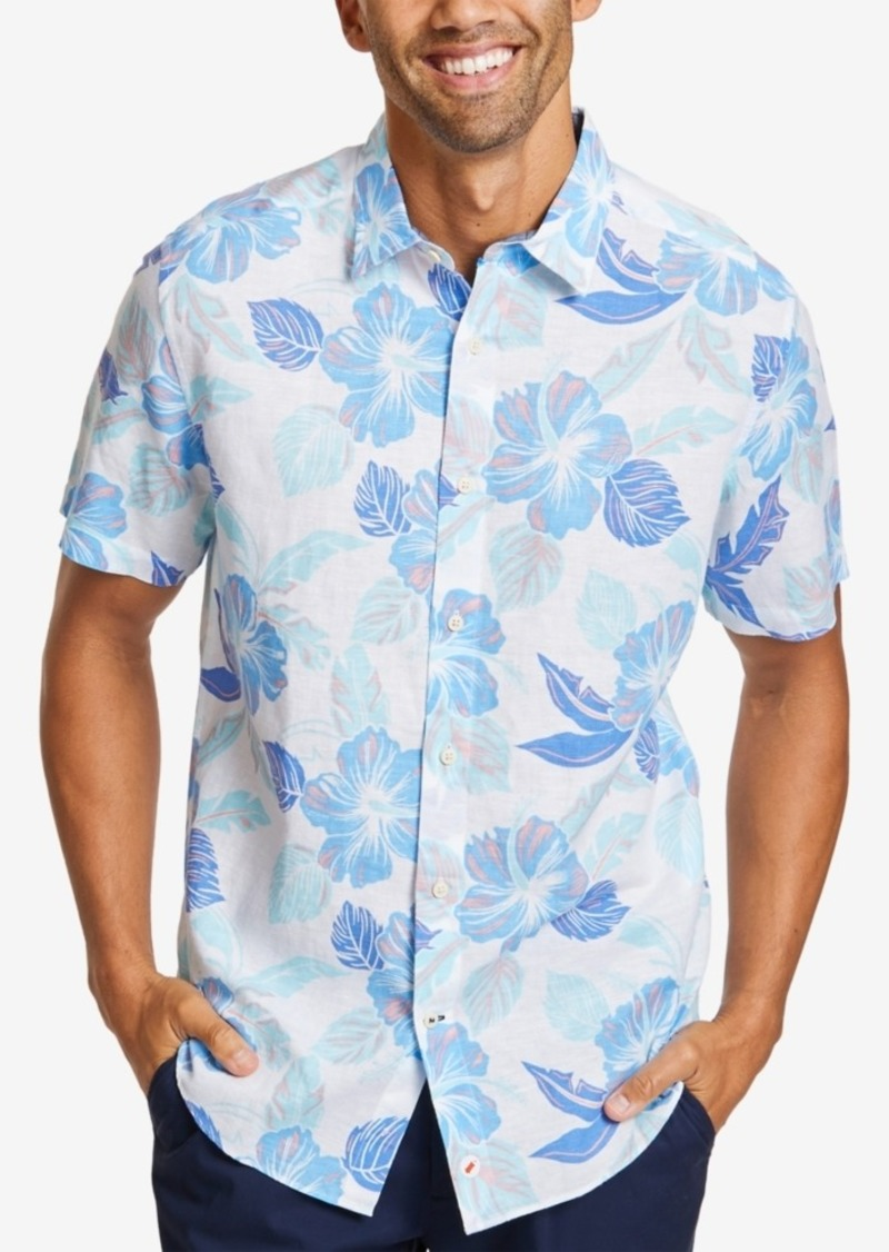 Nautica Men's Hawaiian-Print Linen Shirt