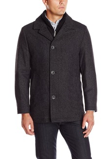 Nautica Men's Herringbone Walker Coat with Bib