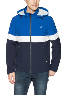 Nautica Men's Hooded Colorblock Jacket  M