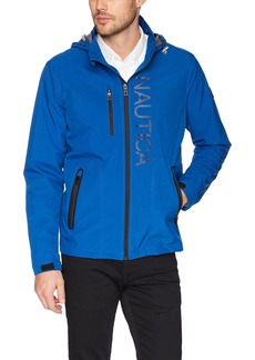 Nautica Men's Hooded Jacket with Logo  L