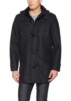 Nautica Men's Hooded Wool Toggle Jacket  S
