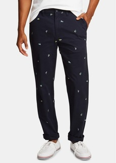 Nautica Men's Icon Classic-Fit Stretch Printed Twill Deck Pants, Created for Macy's