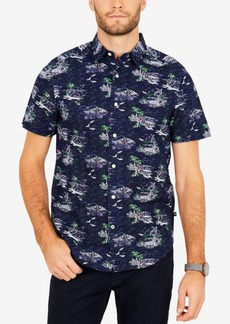 Nautica Men's Island Printed Classic Fit Shirt