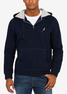 Nautica Men's J Class Embroidered-Logo Full-Zip Fleece Hoodie