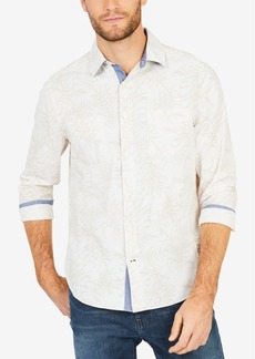 Nautica Men's Leaf-Print Classic Fit Shirt