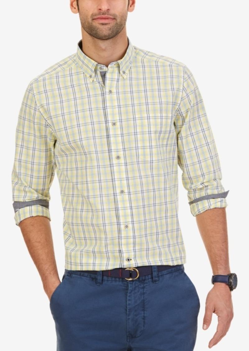 Nautica Men's Lemonade Plaid Long-Sleeve Shirt