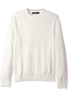 Nautica Men's Light Weight Crew Neck Solid Sweater  3X-Large