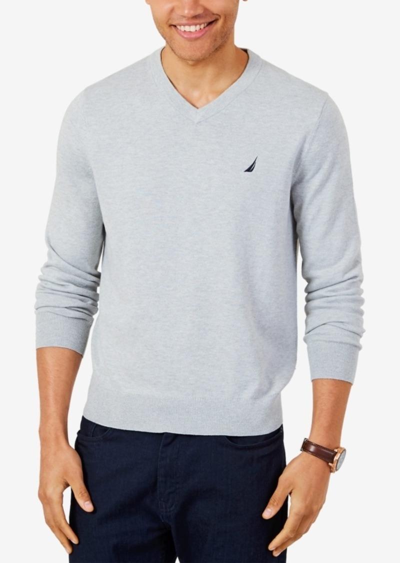 9c8330375a9 Men's Lightweight Jersey V-Neck Sweater