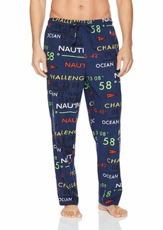 Nautica Men's Lightweight Soft Cozy Fleece Sleep Lounge Pant j Navy