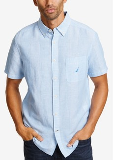 Nautica Men's Linen Thin Stripe Shirt