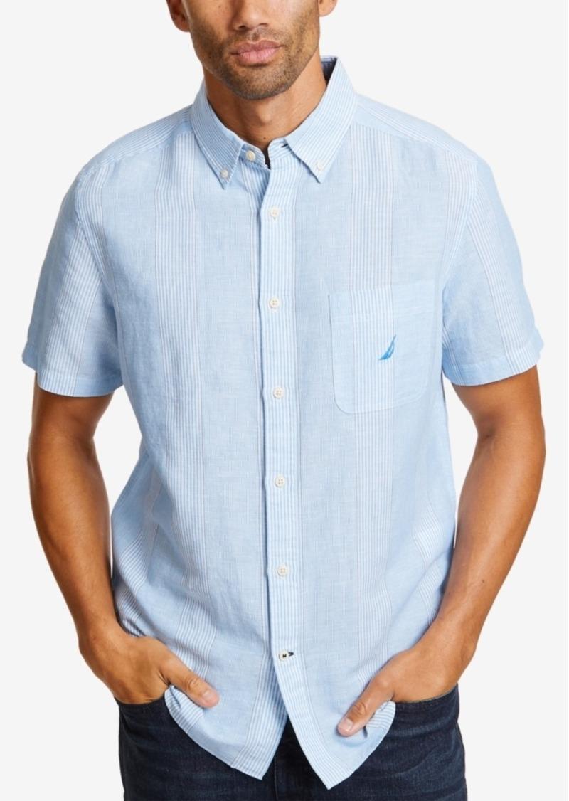 Nautica Men's Linen Thin Stripe Shirt